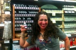 Emily at Linden Hills Co-op, Rockin the Veriditas!